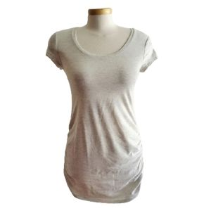 THYME MATERNITY Ruched Tee Cream Size XS